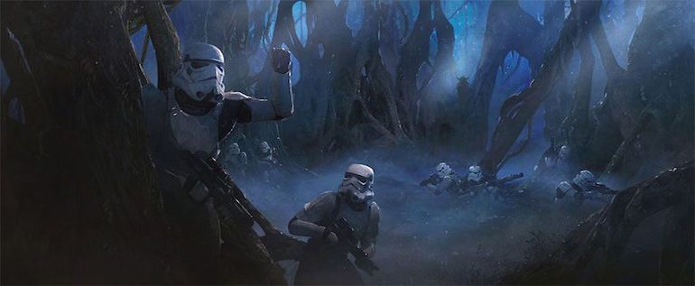 Stunning Artwork Depicts Epic Battle Scenes Of Stromtroopers VS. Aleins-10