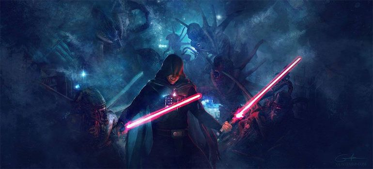 Stunning Artwork Depicts Epic Battle Scenes Of Stromtroopers VS. Aleins-4