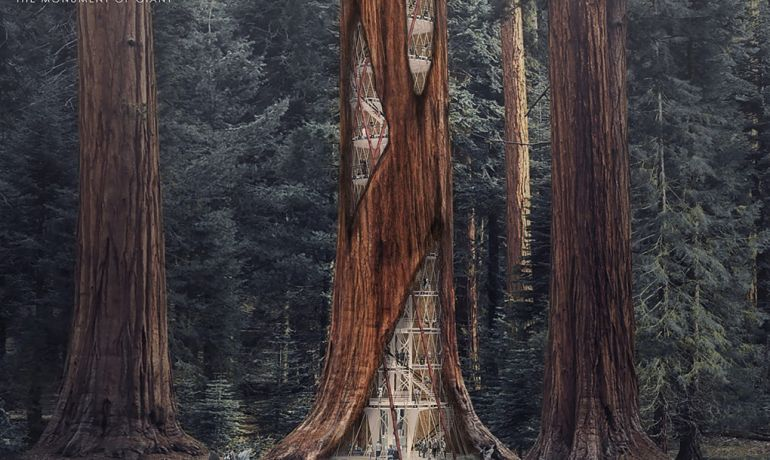 Building Skyscrapers Inside Rotted Giant Sequoias To Keep Them Upright-1