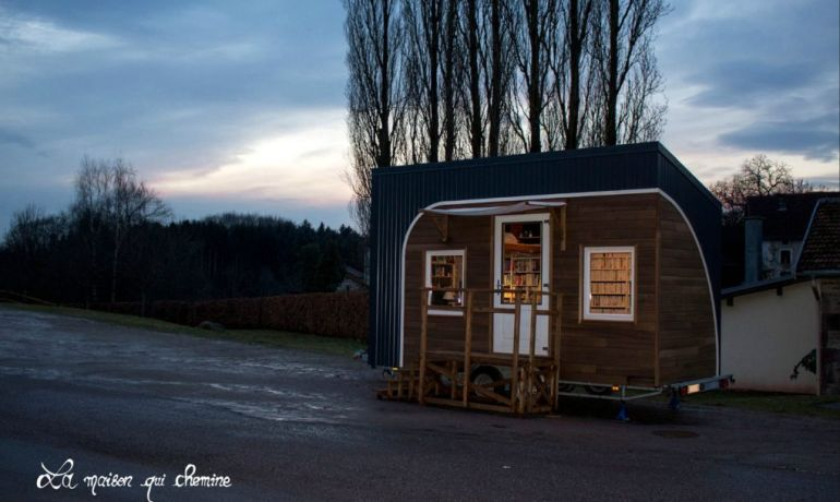 This Stunning Tiny House In France Doubles As A Mobile Library-2
