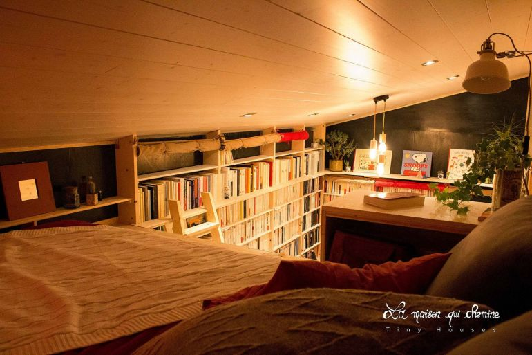 This Stunning Tiny House In France Doubles As A Mobile Library-3
