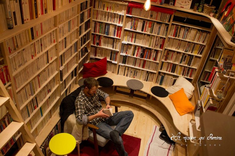 This Stunning Tiny House In France Doubles As A Mobile Library-4