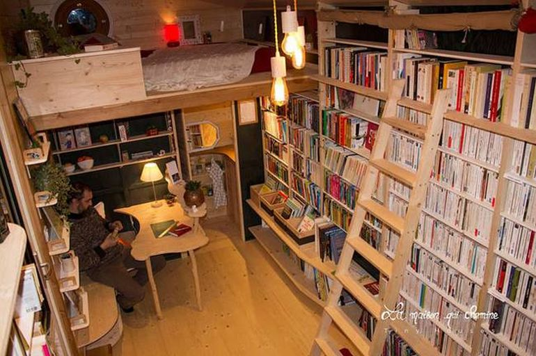 This Stunning Tiny House In France Doubles As A Mobile Library