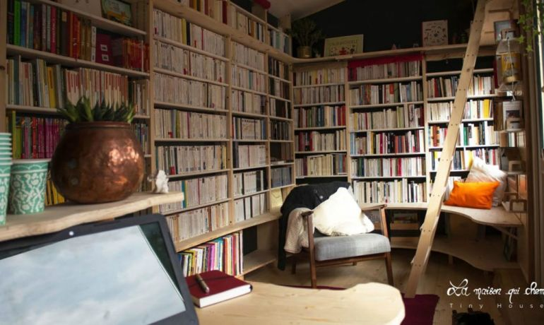 This Stunning Tiny House In France Doubles As A Mobile Library-5
