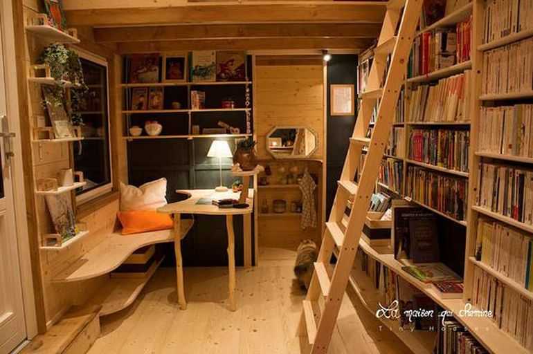 This Stunning Tiny House In France Doubles As A Mobile Library-9