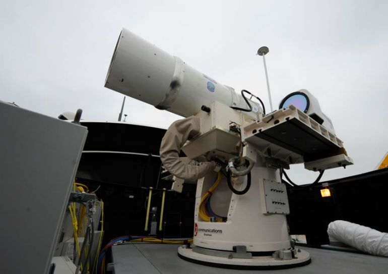 Watch Laser Weapon System (LaWS) Destroys Distant Target In Seconds-1
