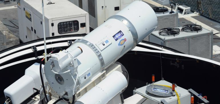 Watch Laser Weapon System (LaWS) Destroys Distant Target In Seconds-3