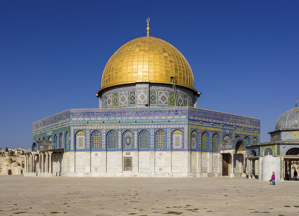 the dome of the rock According to islamic tradition, the dome of the rock, built in 691, marks the spot  where muhammed ascended to heaven but according to.