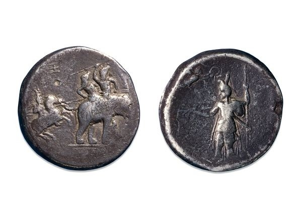 Silver Decadrachms_Alexander_portrayed