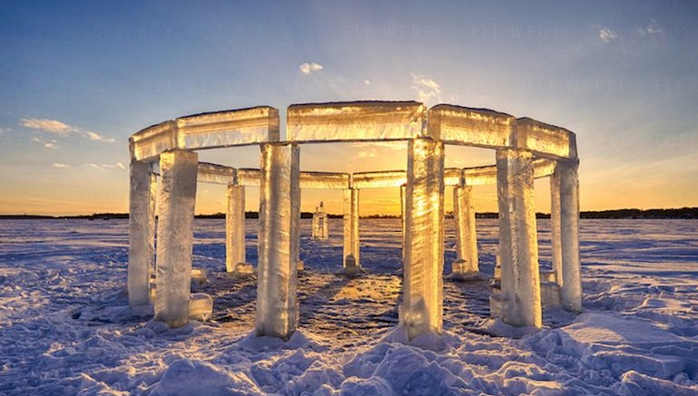 Lake Icehenge_Stonehenge_Rock_lake_Wisconsin