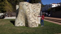 3D Printed_Bloom Pavilion_ Powdered Cement_UC_Berkley
