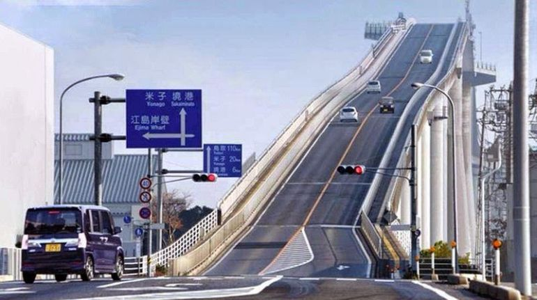 Famous Japanese Bridge, Eshima Ohashi, Boasts Dizzying Roller ...