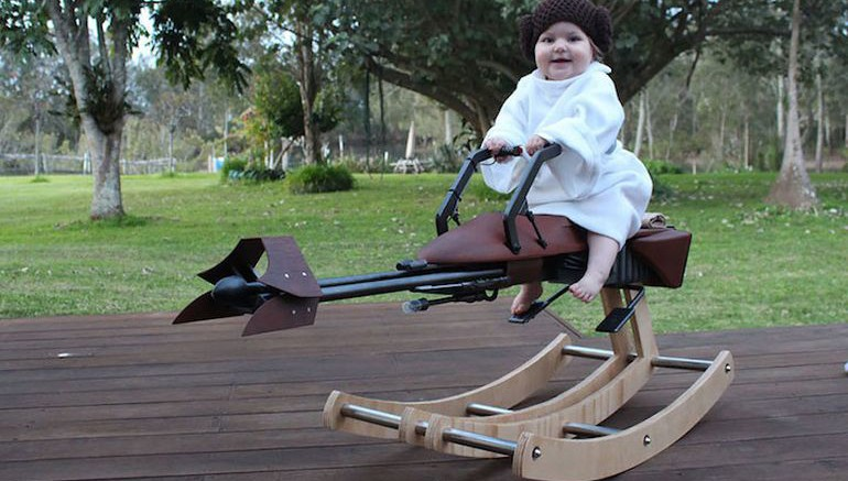 Artist Designs 'Star Wars' Rocking Horse For His Daughter-1