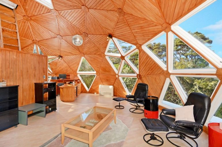 dome home interior design auckland s dome house dazzles with its geodesic form 17398