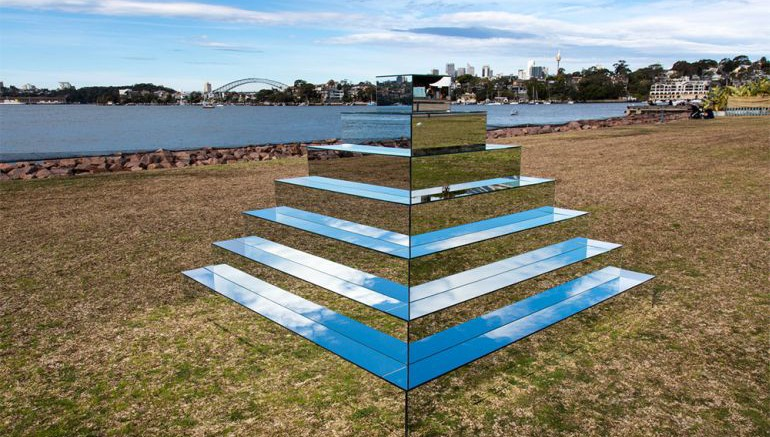 Earth And Sky Come Together In The Mirrored Ziggurat-2