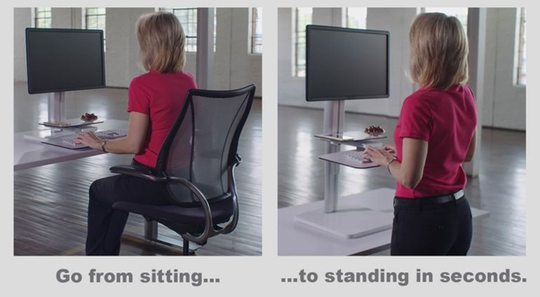 Forget Back Ache With The Sit2Stand Height Adjustable Desk-7
