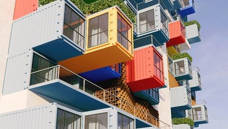 Skyscraper, Built Using Shipping Containers, For Slum Dwellers-1