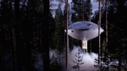 Swedish Hotel Features Bird's Nest And UFO-Shaped Cabins-1