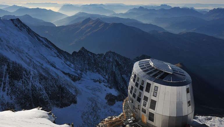 At The Top Of Mont Blanc Sits the Futuristic Refuge du Goûter-1