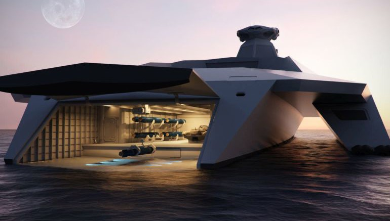 Dreadnought 2050 A Drone-Controlled Warship Of The Future-1