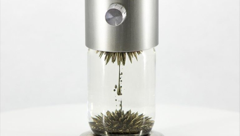Watch The Ferrofluid Dance Around Inside This Interactive Sculpture-2