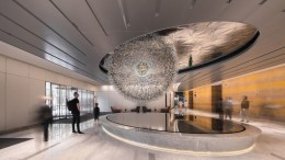 Lucent A Stunning Sculpture Made Up Over 3,000 Glass Orbs-6