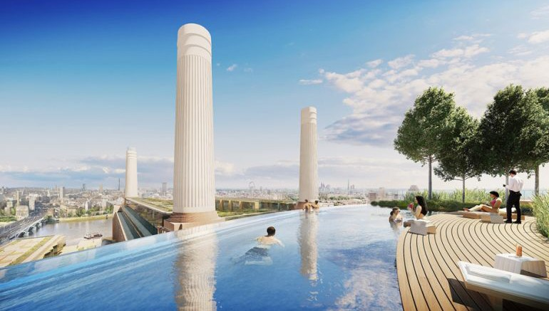 Rooftop Infinity Pool To Grace The Skyline Around Battersea Power Station