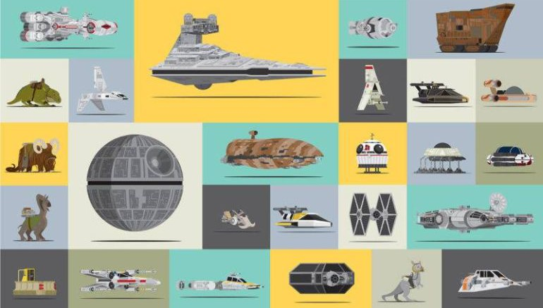 Star Wars Poster Shows All The Vehicles Used In The Original Trilogy-1
