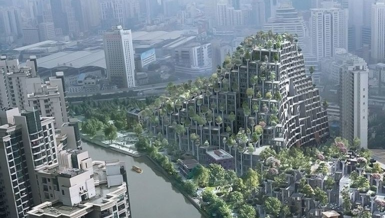 Shanghai To Get A Stunning Tree-Covered Mountain In M50-2