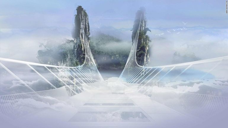 China Is Gearing Up To Unveil World's Longest Glass-Bottomed Bridge-8