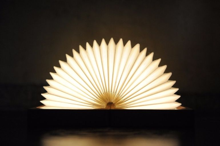 This Stunning, Bluetooth-Enabled Lamp Folds Like An Accordion-5