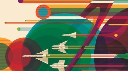 NASA's Retro Travel Posters Depict Future Where Space Travel Is Common-1