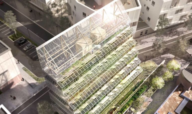 Self-Sufficient Ziggurat-Like Tower To Bring Vertical Farming To Paris-1