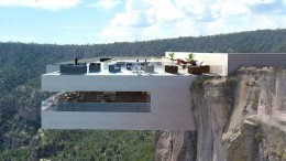 Cantilevered Restaurant Offers Stunning Views of The Valley Below-1