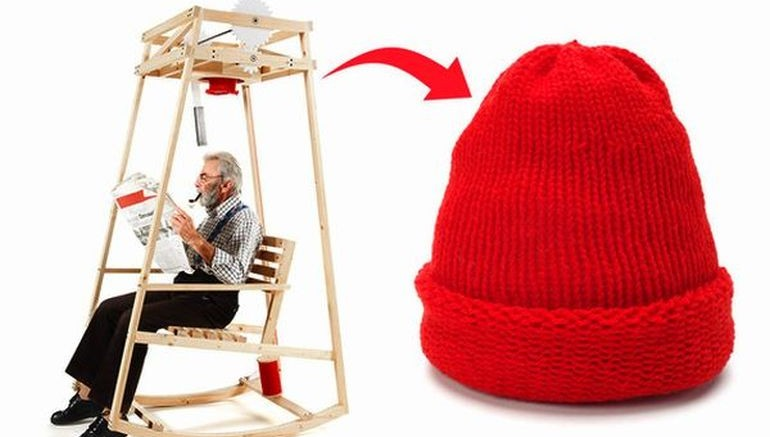 Ingeniously-Designed Rocking Chair Knits A Hat As You Gently Sway-6