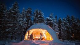 Stunning Geodesic Cabins OfferEnchanting Views of Northern Lights-2