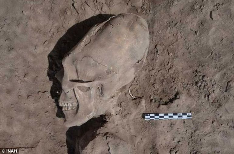 1600-Year-Old Skeleton With Elongated Skull Found In Mexico-1