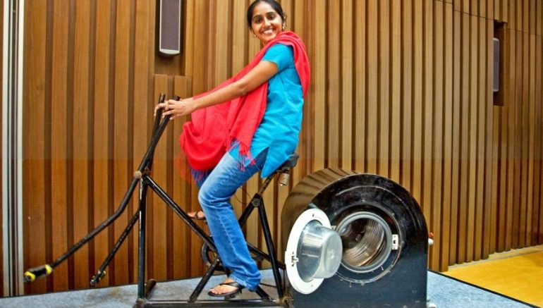 Indian Teenager designs Innovative Human-Powered Washing Machine-1