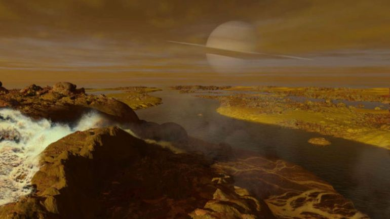 essay on saturns largest moon titan Titan, one of the largest moons in the solar system, has intrigued mankind as it was often thought to mirror earth's composition and possibly have the.