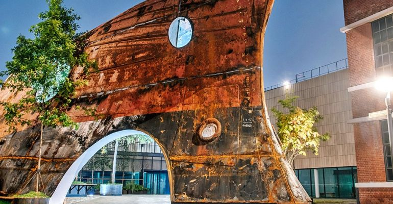 South Korean architects transform defunct, rusty ship into stunning tree-filled pavilion-10