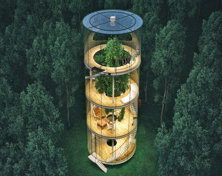 This Amazing Dwelling In Kazakhstan Houses An Actual Tree At Its Center-3
