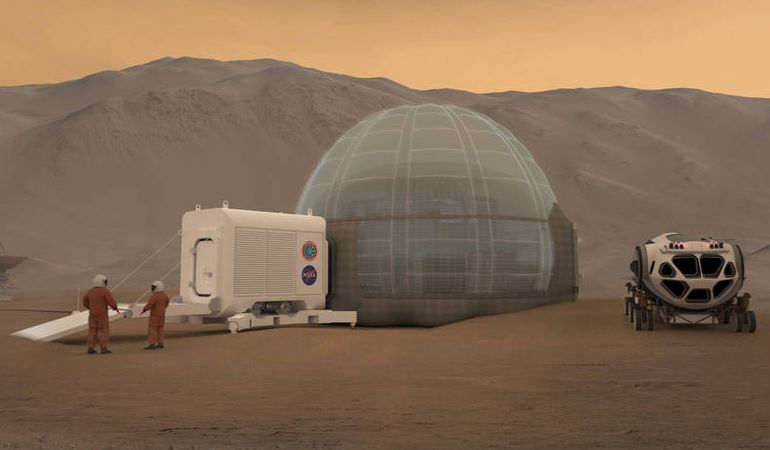 NASA Researchers Unveil Innovative Ice-Covered Mars Habitat Concept-1