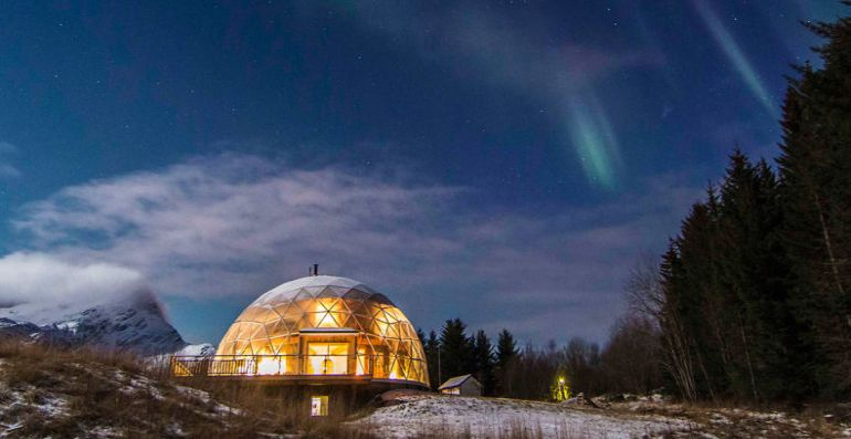 Nature House A Stunning Cob Dwelling Nestled Inside A Geodesic Dome-7
