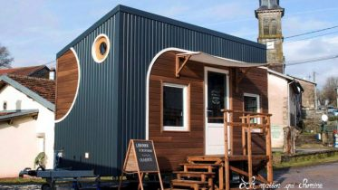 This Stunning Tiny House In France Doubles As A Mobile Library-1