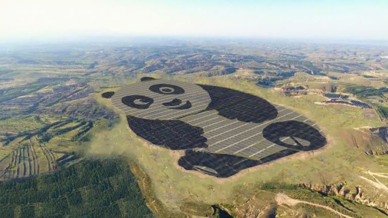 Panda-shaped solar array China now home to the world's most charming power plant-1